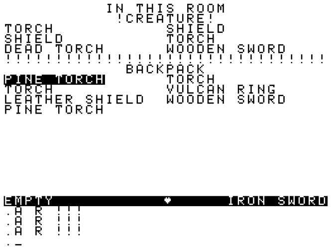 dodinventorydance.PNGThe CRPG Addict- Game 132- Dungeons of Daggorath (1982)002.png